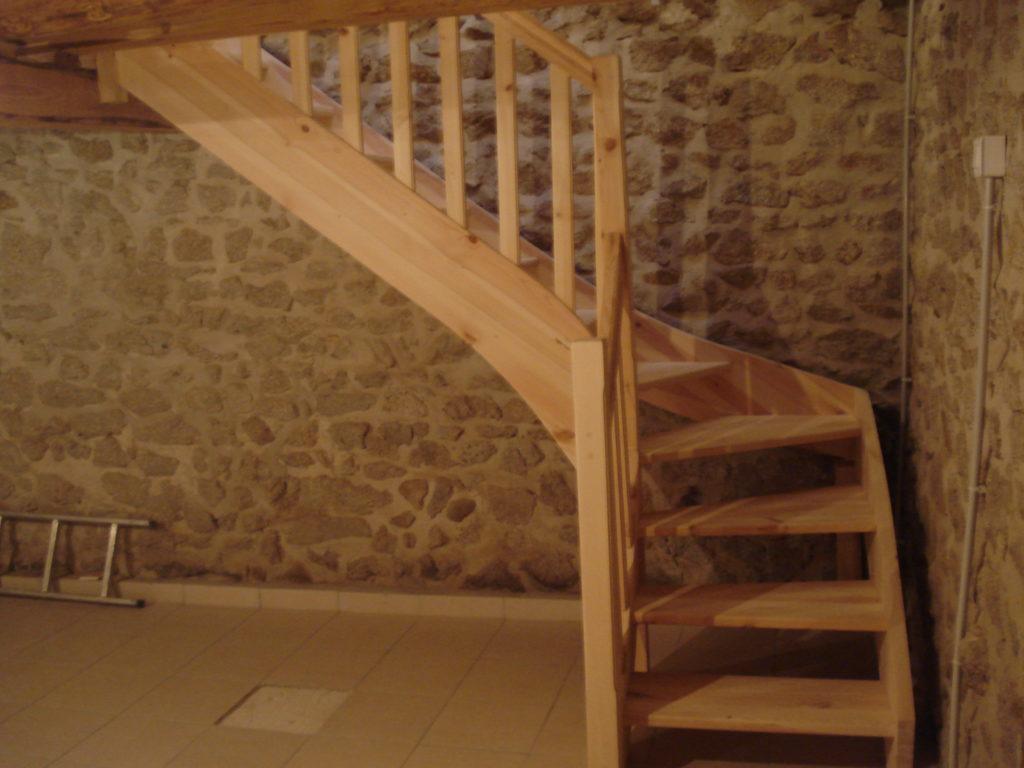 escalier a balustre bois