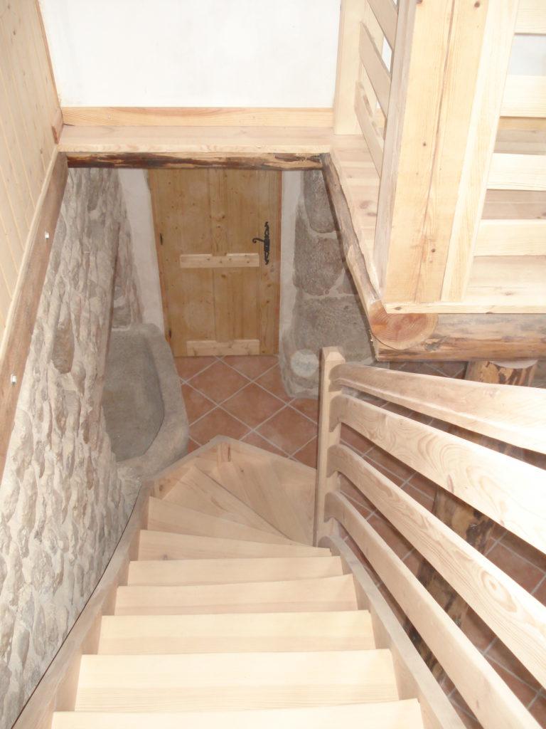 escalier rustique