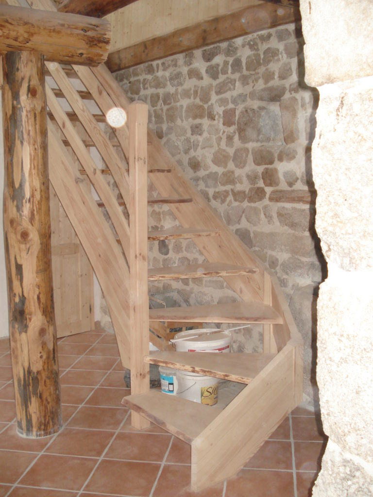 escaliers 1/4 tournant