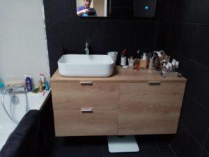 meuble suspendue avec vasque a poser
