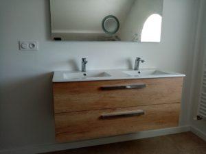 meuble salle de bain suspendu double vasque